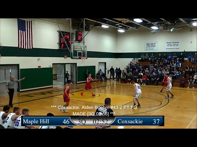 Boys: Maple Hill vs Coxsackie
