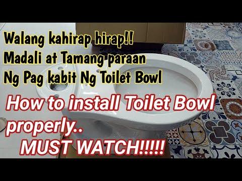 Paanu mag kabit Ng Toilet Bowl • How to install Toilet Bowl •  D.I.Y • Tutorial • Gawaing Bahay