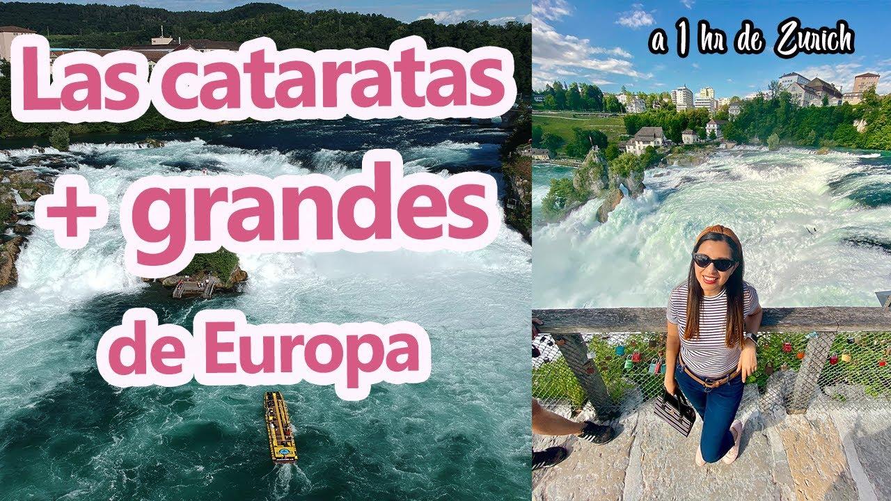 Las cataratas más GRANDES de Europa -Cataratas en Suiza - Cataratas del Rin - Rheinfall