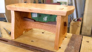 Japanese Joinery - Build a Step Stool