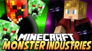 Minecraft MONSTER INDUSTRIES! (Spawn Mobs, Buy Weapons & More!) - w/Preston & Lachlan
