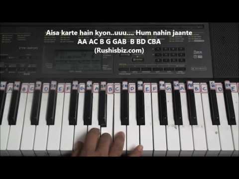 Chalte Chalte yunhi (Piano Tutorials) - Mohabbatein