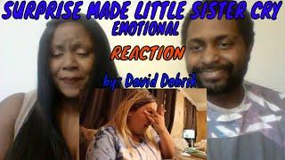 David Dobrik - SURPRISE MADE LITTLE SISTER CRY!! (EMOTIONAL) REACTION