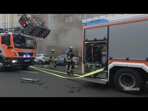 Feuerwehr Großeinsatz Berlin Neukölln Hermannstraße /Okerstraße am 22.2.20 um ca, 16:00 from YouTube · Duration:  17 minutes 17 seconds