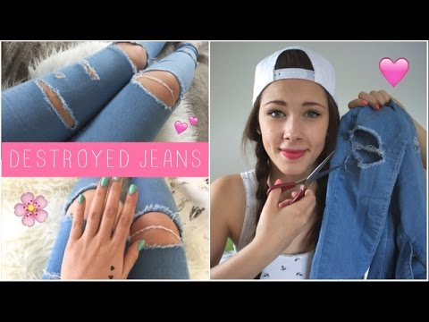 Diy Destroyed Jeans Ripped Jeans Selber Machen Youtube