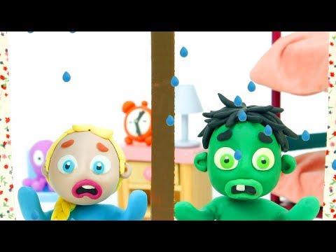 Rainy day 💕 Superhero Play Doh Stop motion cartoons - 동영상