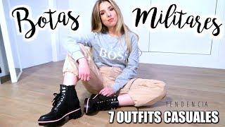 7 OUTFITS  CASUALES CON BOTAS MILITARES/ MiriamMalo