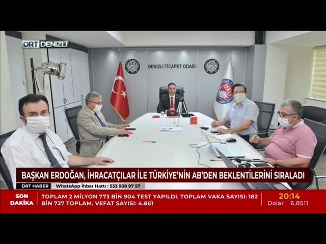DRT-Başkan Erdoğan, İhracatçılar ile Türkiye'nin AB'den beklentilerini sıraladı 17.06.2020