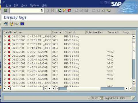 SAP SD - SLG1 Application Error log monitor