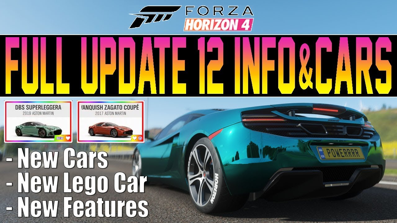 Forza Horizon 4 - FULL UPDATE 12 INFO! All New Cars. Features & More!