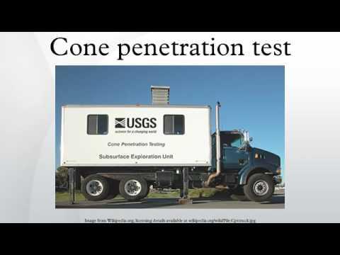 Cone penetration test