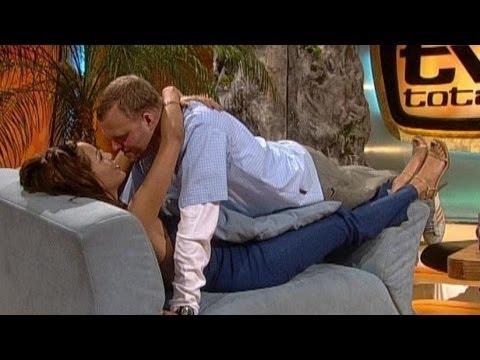 Verona und Stefan üben küssen  TV total classic