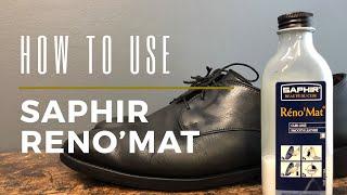 How to Use Saphir Reno'Mat | Remove Old Shoe Wax & Polish