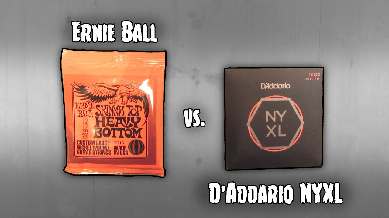 ernie ball vs d 39 addario nyxl 10 52 metal phill behean youtube. Black Bedroom Furniture Sets. Home Design Ideas