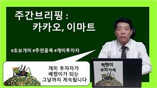 카카오, 이마트 (4.5~4.9) 주간브리핑