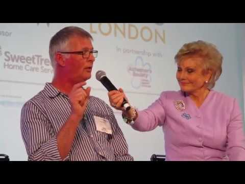 Peter Berry speaking to Angela Rippon, Alzheimer's Show June 2017
