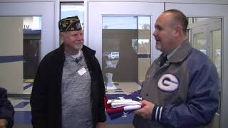 American Legion donates flag to Charter Oak Elementary School