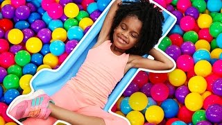 ball pit surprise family fun jumping ball pit at our house with toys for kids indoor activities