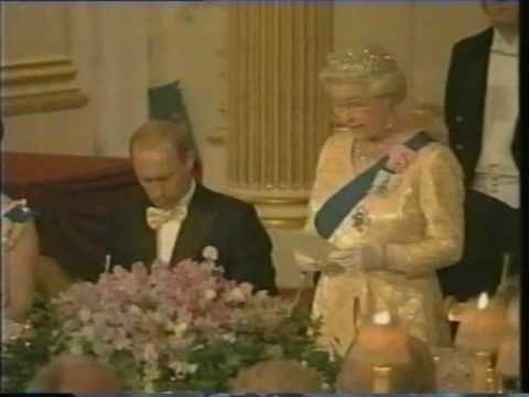 The Queen hosts Vladimir Putin