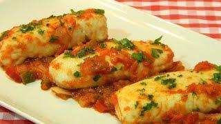 Receta facil y rapida de merluza con tomate
