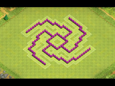Clash of Clans - Town Hall 6 (TH6) Trophy/War Base - YouTube