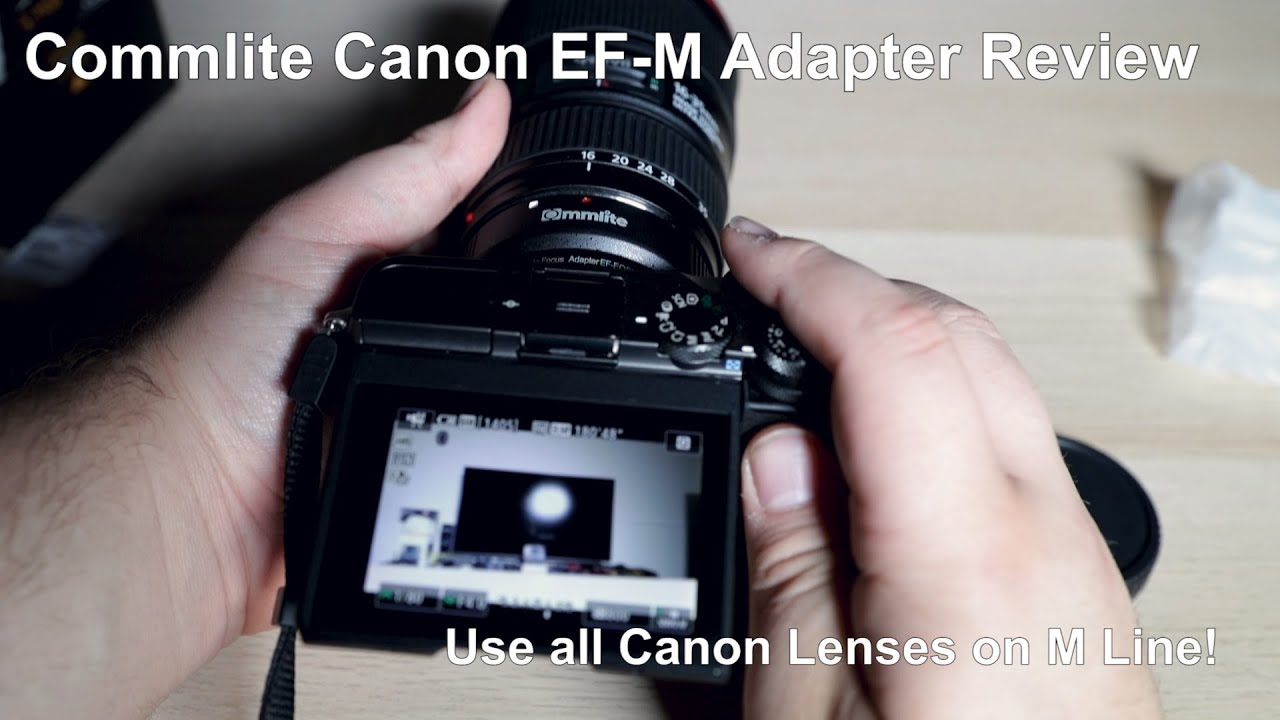 Commlite CM-EF-EOS M Lens Adapter Review: Mount Any EF Canon Lens On Your M  Camera!