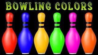 Bowling Trò chơi cho trẻ em | Tìm hiểu màu sắc với Bowling | Màu sắc cho trẻ em trẻ em Trẻ em