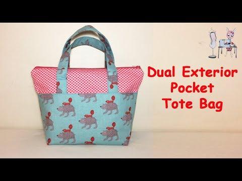 TOTE BAG | DIY BAG | HANDBAG | ZIPPER BAG | BAG SEWING TUTORIAL |   Coudre un sac | Bolsa