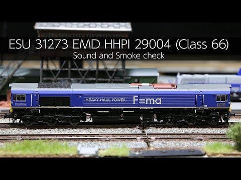ESU 31273 EMD HHPI 29004 (Class 66) Sound And Smoke Check - VLOG48
