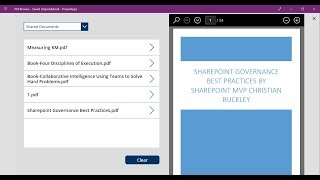 How to use PoweŗApps to view PDF's in a SharePoint library