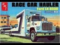 How to Build the Race Car Hauler Ford LN 8000 1:25 Scale AMT Model Kit #758 Review