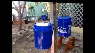 The best DIY chicken feeder - keep feed dry and safe from rodents and birds