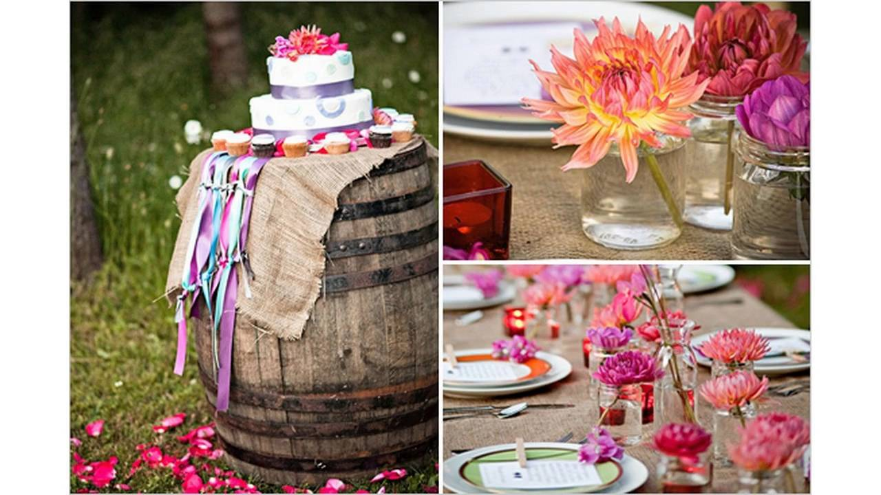 Ideas al aire libre baratas de la boda youtube for Ideas baratas para decorar
