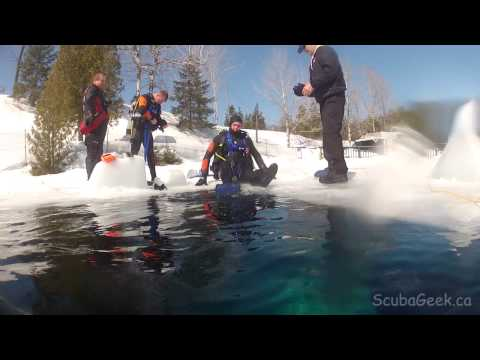 Tethered Ice Diving in Canada 2014