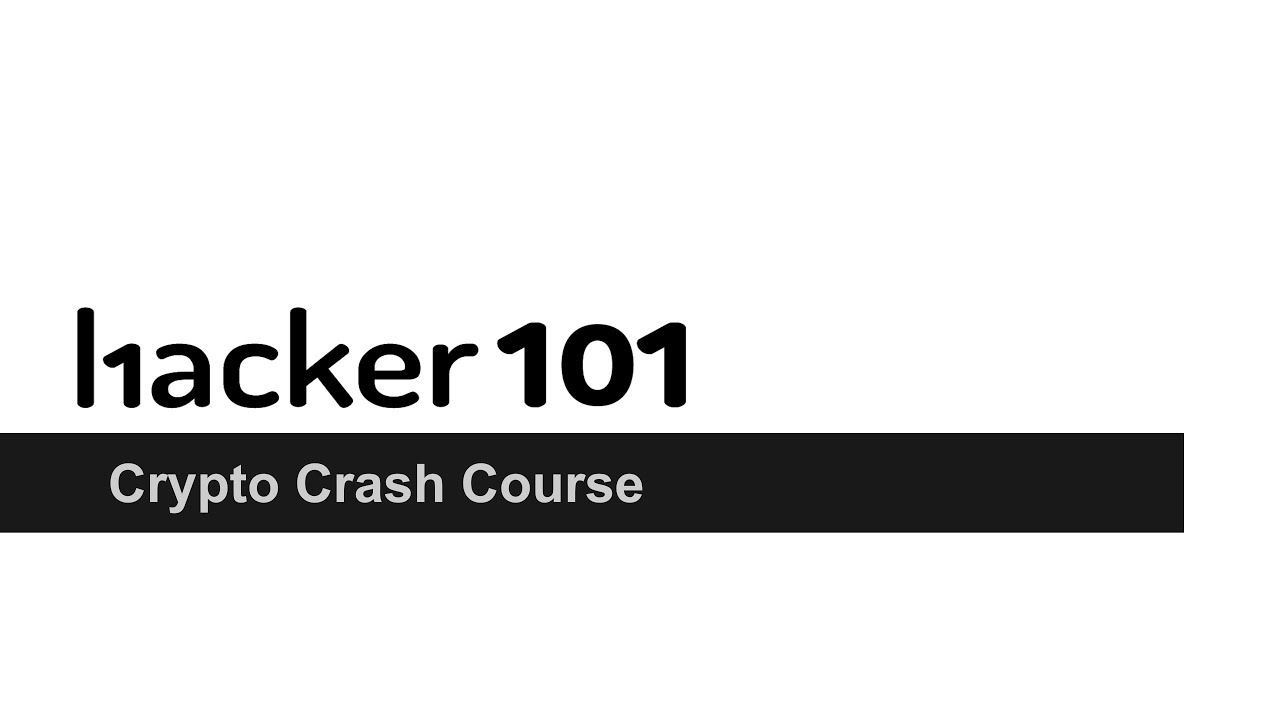 cryptocurrency crash course