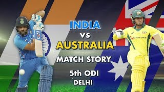 India vs Australia, 5th ODI: Match Story