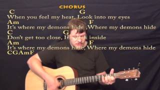 Demons (Imagine Dragons) Strum Guitar Cover Lesson with Chords/Lyrics