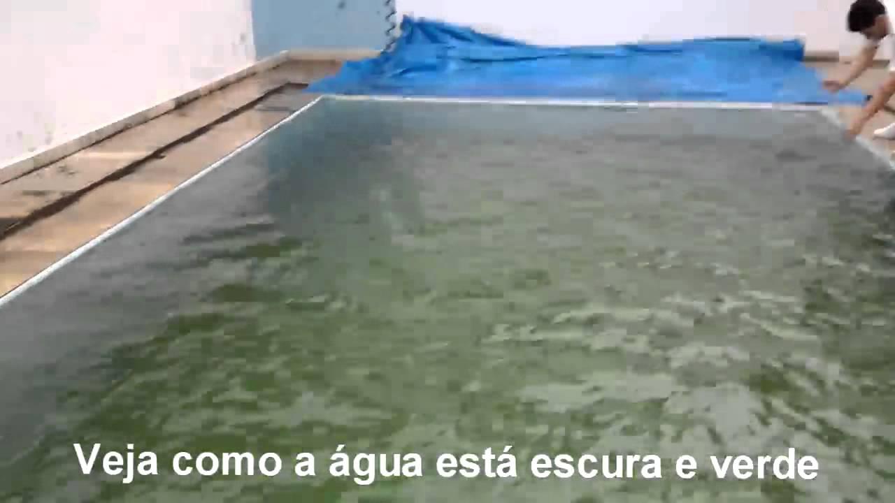 Piscina verde antes e depois youtube for Aclarar agua piscina verde