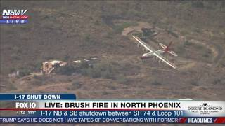 WATCH: Firefighting Aircrafts Respond To Fire in North Phoenix, Arizona (FNN)