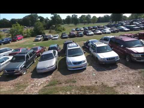 Drone footage of huge salvage yard in Tennessee