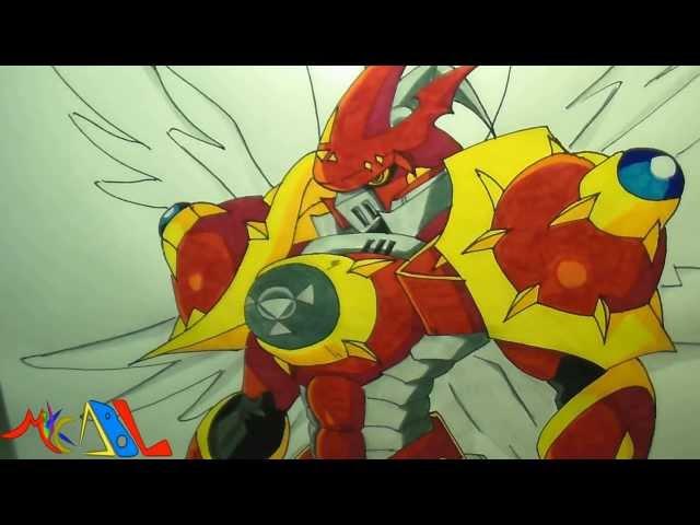 Dibujando a: Gallantmon Crimson