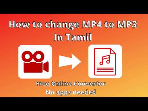 How to change MP4 to MP3 in Tamil | Free online convertor |How to change video to audio