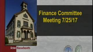 Finance  Committee  Meeting 7∕25∕17
