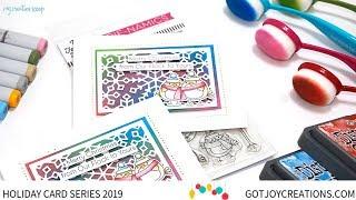 Gambar cover Got Joy Creations Holiday Card Series 2019 - Guest Designer Mindy Baxter