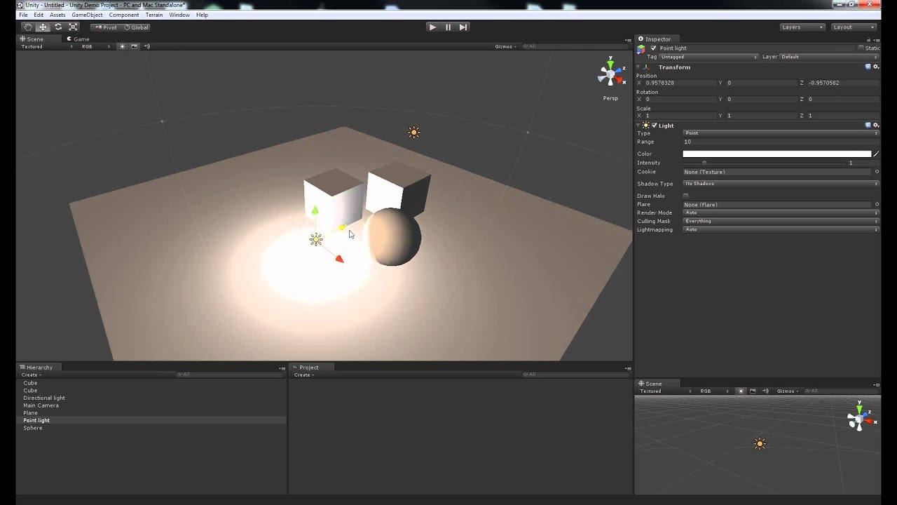Lighting a Scene in Unity3D