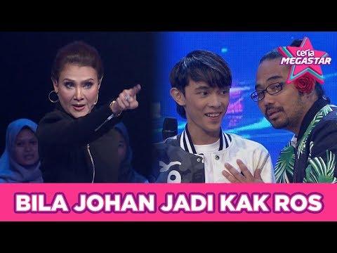 Bila Johan jadi Kak Ros | Ceria Megastar | Johan & Mas Idayu