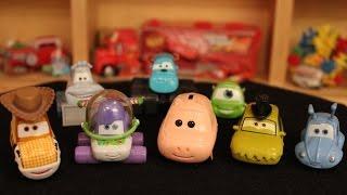 Mattel Disney Cars Woody Buzz Hamm Sulley Mike Yeti PT Flea & Flik Die-casts