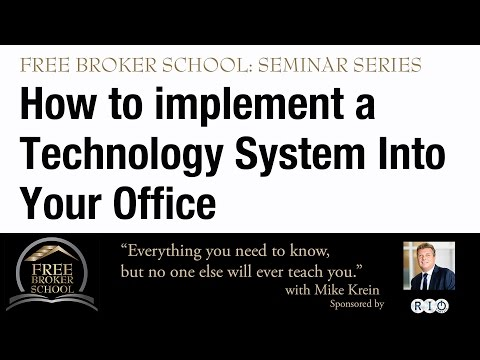 How to Implement a Technology System into your office.