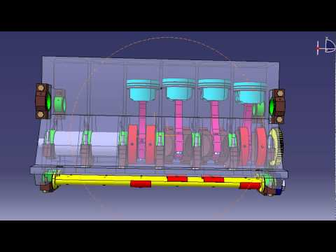 How To Completely Balance Four-pistons Engine - CATIA V5 Simulation