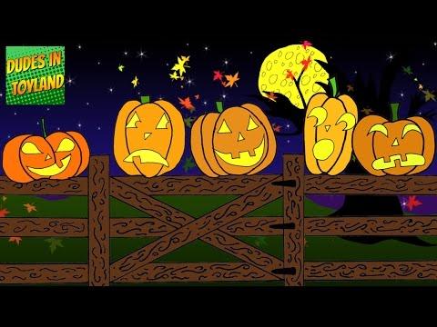 Five Little Pumpkins Sitting on a Gate  Halloween songs for kids cartoon YouTube